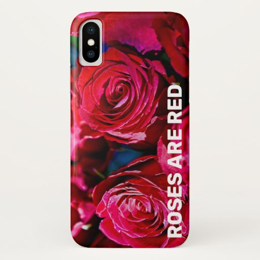 Nice Bunch Of Red Roses iPhone X Case