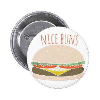 Nice Buns Pinback Buttons