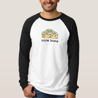 Nice Buns Cinnamon Roll Cartoon Design Funny T-Shirt