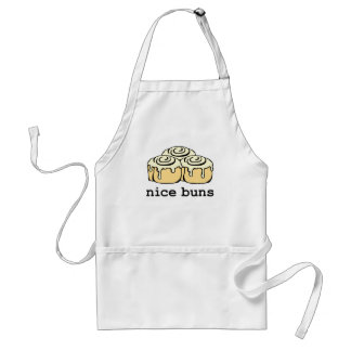 Nice Buns Cinnamon Roll Funny Cartoon Design Adult Apron