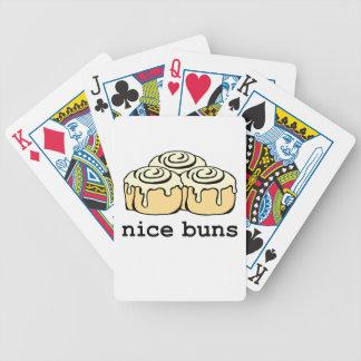 Nice Buns Cinnamon Roll Funny Cartoon Design Bicycle Playing Cards