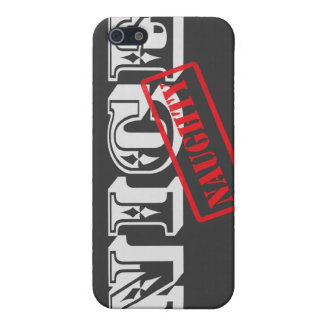 Nice but Naughty (YOU choose background color) iPhone 5/5S Case