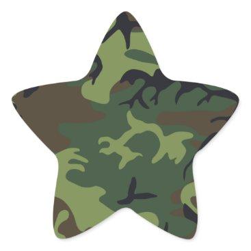 Nice Camouflage Design Star Sticker