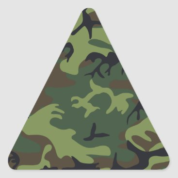 Nice Camouflage Design Triangle Sticker