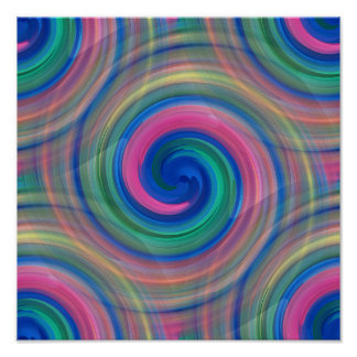 Nice candy swirl pattern with pink and purple poster