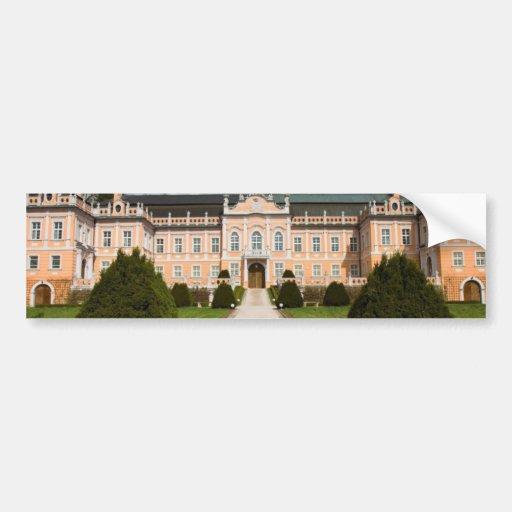 Nice Castle In East Bohemia Bumper Stickers