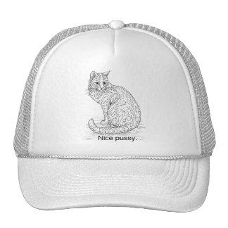 NICE CAT TRUCKER HAT