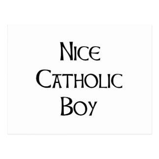 Nice Catholic Boy Postcard
