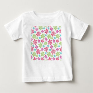 Nice Christmas red, green, pink, blue snowflakes Baby T-Shirt