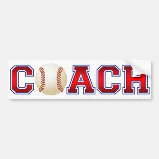 Nice Coach Baseball Insignia Bumper Sticker