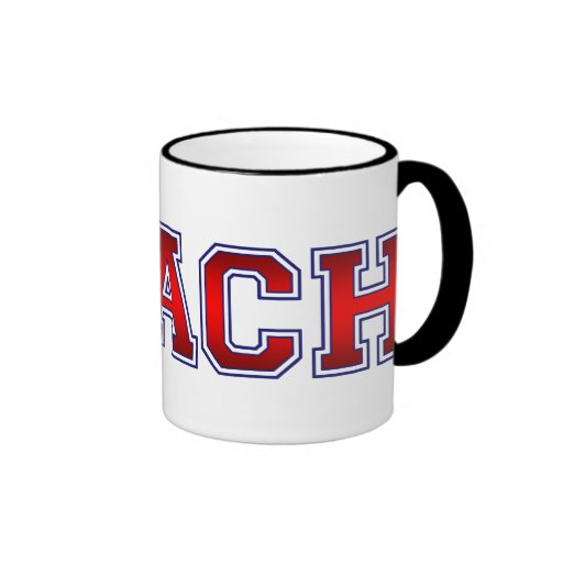 Nice Coach Baseball Insignia Ringer Coffee Mug