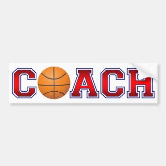 Nice Coach Basketball Insignia Bumper Sticker