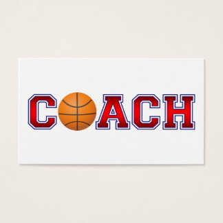 Nice Coach Basketball Insignia Business Card