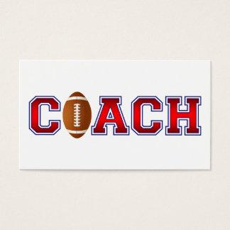 Nice Coach Football Insignia Business Card