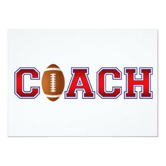 Nice Coach Football Insignia Card