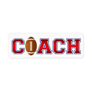 Nice Coach Football Insignia Label
