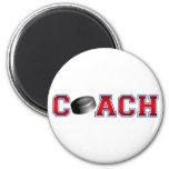Nice Coach Hockey Insignia Refrigerator Magnets