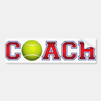 Nice Coach Tennis Insignia Bumper Sticker