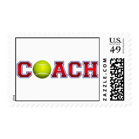 Nice Coach Tennis Insignia Postage