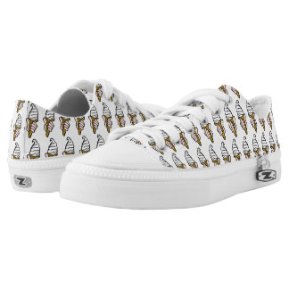 Nice Cold Ice Cream Printed Shoes