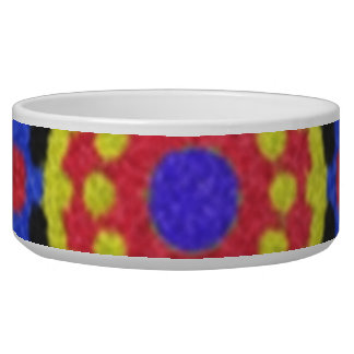 Nice colorful pattern pet bowls