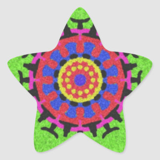 Nice colorful pattern star sticker