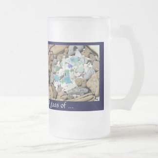 Nice Cool Glass of Beverage Name Frosted Glass Mug