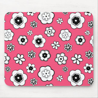 Nice daisies, flowers, with red backgr. Girly Mouse Pad