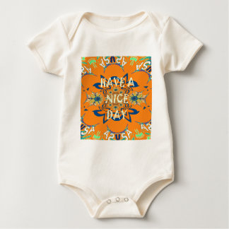 Nice day Beautiful baby dark pink floral  shade a Baby Bodysuit