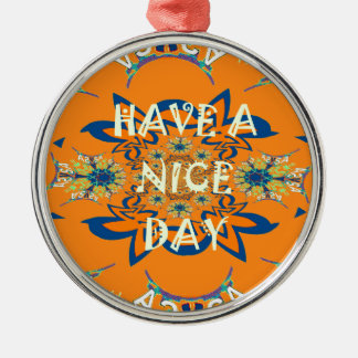Nice day Beautiful baby dark pink floral  shade a Metal Ornament