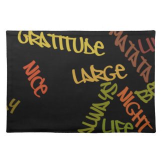 Nice Day Better Night Life Large gifts place mat