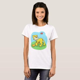 Nice day for a walk. Cat & Mr bird. T-Shirt