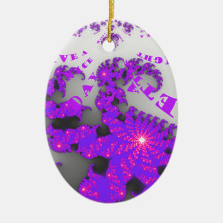 Nice Days and a Better Night Double-Sided Oval Ceramic Christmas Ornament