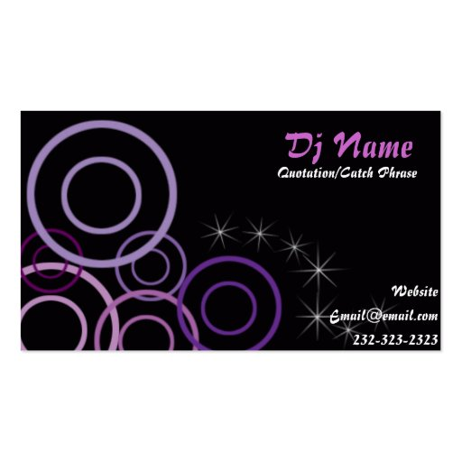 Nice Dj music business Card