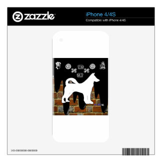 NICE DOG BRICK BACKGROUND PRODUCTS DECALS FOR THE iPhone 4