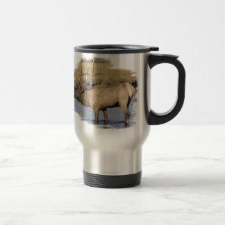 Nice Elk in the stream 15 Oz Stainless Steel Travel Mug
