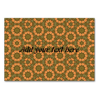 Nice flower pattern table cards