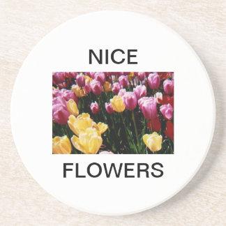 Nice  Flowers Sandstone Coaster