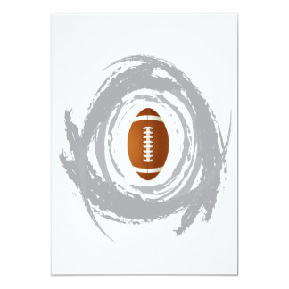 Nice Football Circular Grunge Card