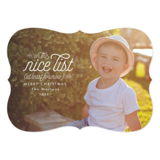 Nice for Now Funny Holiday Photo Card