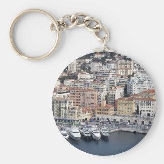 Nice France Basic Round Button Keychain