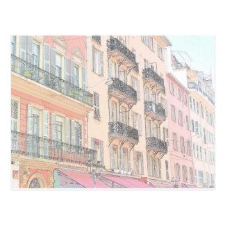 Nice France City Streets Postcard