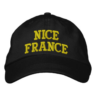NICE FRANCE EMBROIDERED BASEBALL HAT