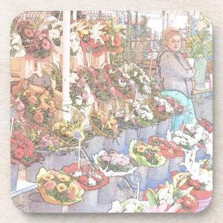 Nice France Farmers Market Beverage Coaster