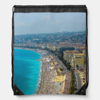 Nice France located in the French Riviera Drawstring Bag