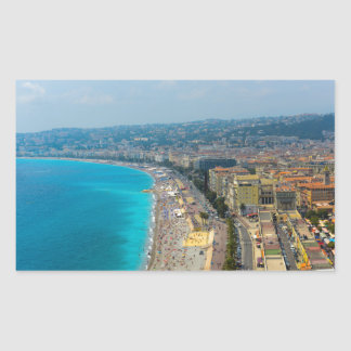 Nice France located in the French Riviera Rectangular Sticker