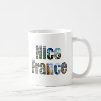 Nice, France tourist attractions in letters Classic White Coffee Mug