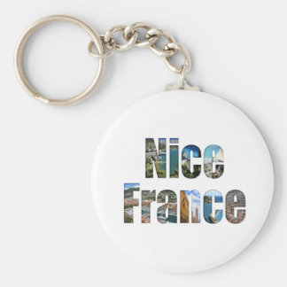 Nice, France tourist attractions in letters Keychain