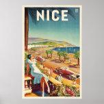 "Nice France Vintage Travel Poster<br><div class=""desc"">Nice France Vintage Travel Poster</div>"