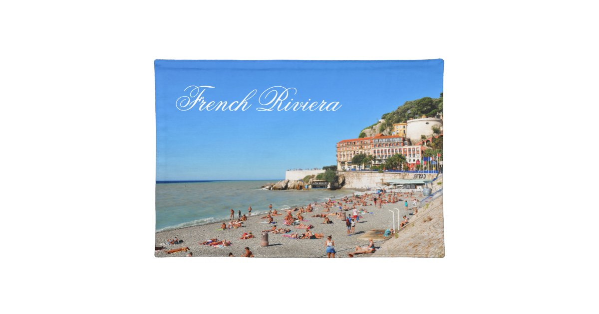 Nice French Riviera Cloth Placemat Zazzle